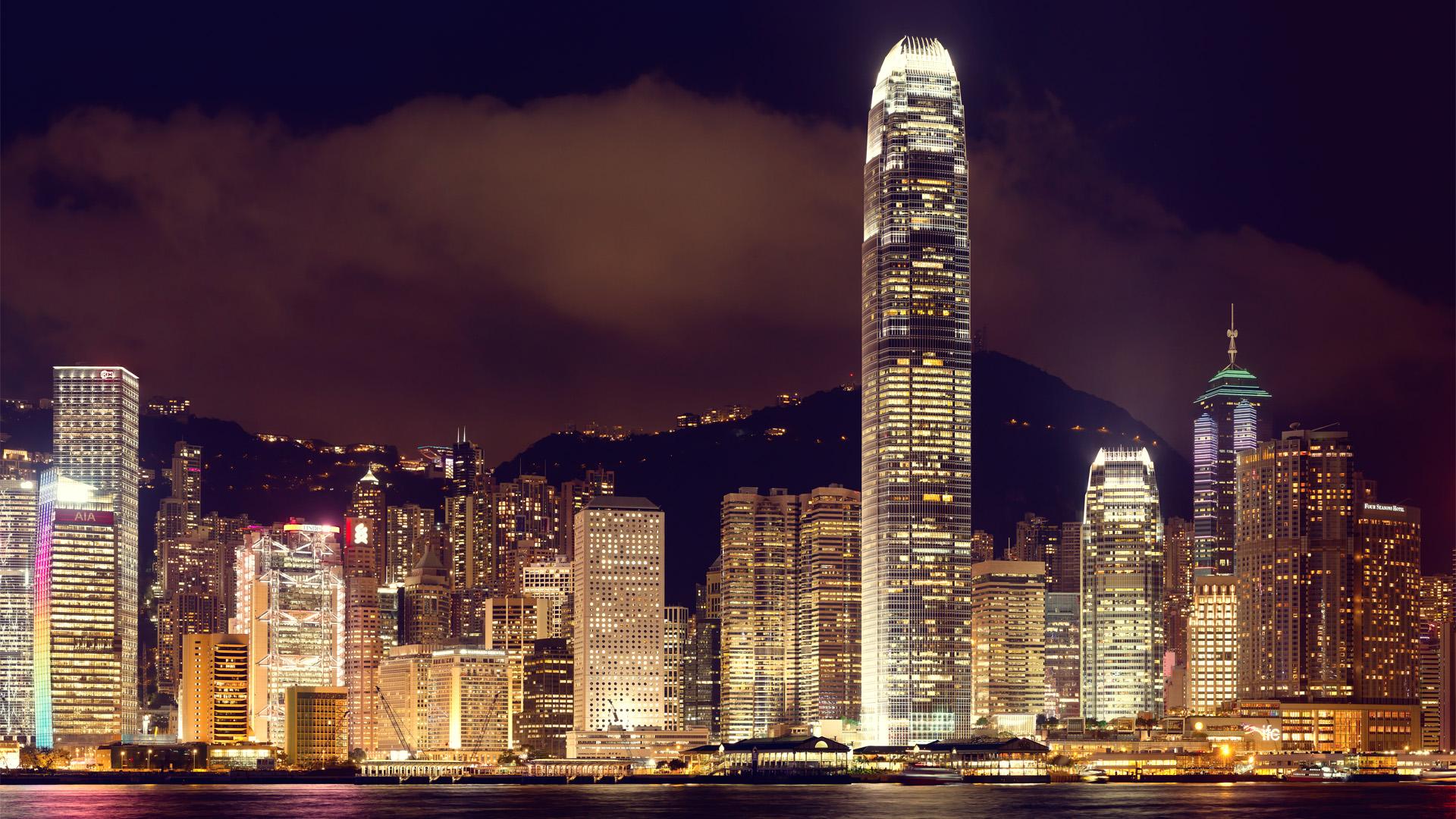 Hongkong Skylines Panoramic color 3