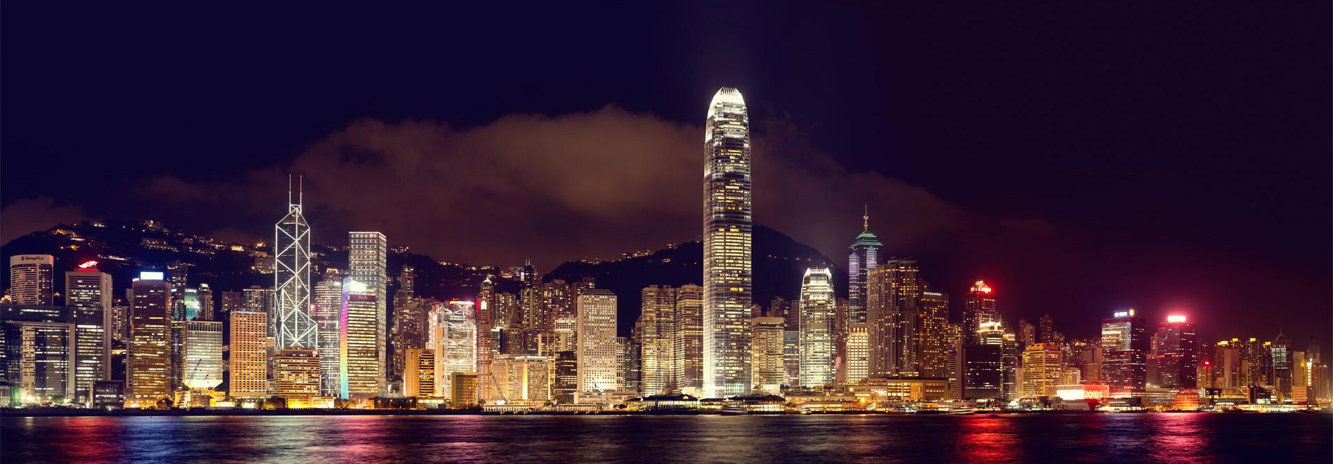 Hongkong-Skylines-Panoramic-color